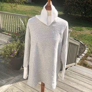 Lands End women's gray turtleneck sweater 2X